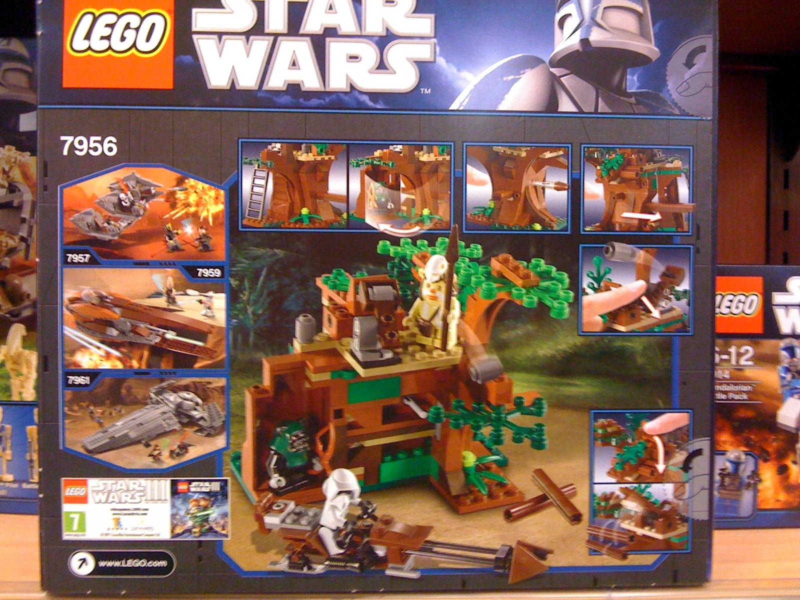 LEGO 7956 Star Wars Ewok Attack Box Back
