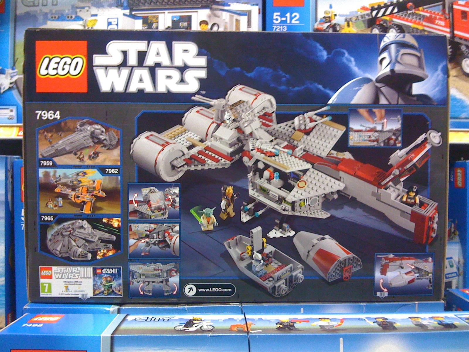LEGO 7964 Star Wars Clone Wars Republic Frigate Box Back