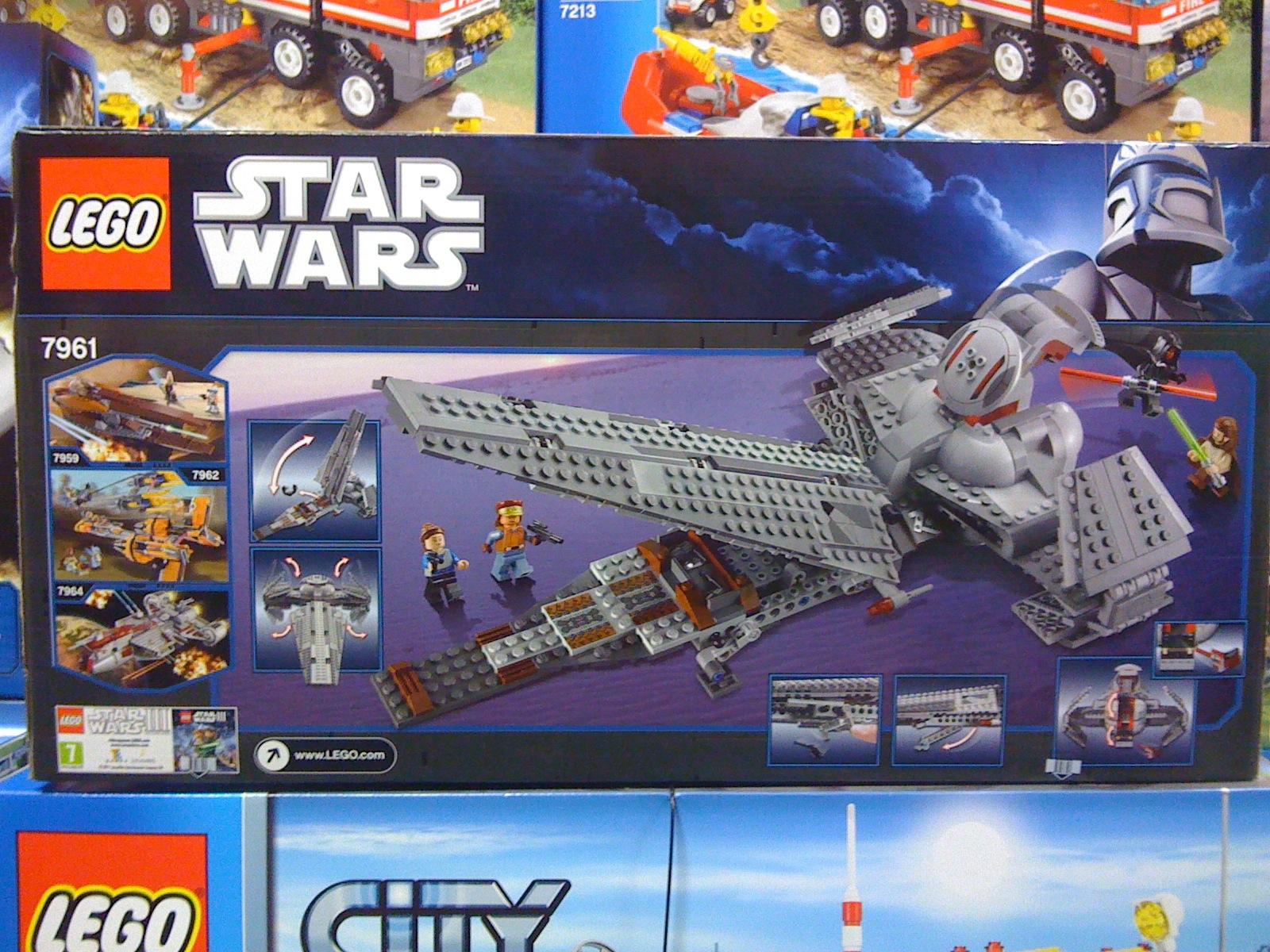 LEGO 7961 Star Wars Darth Maul's Sith Infiltrator Box Back
