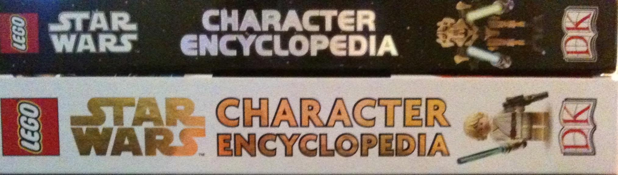 LEGO Star Wars 2nd Edition Encyclopedia Spine Comparison